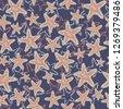 seastar starfish pattern. coral ...