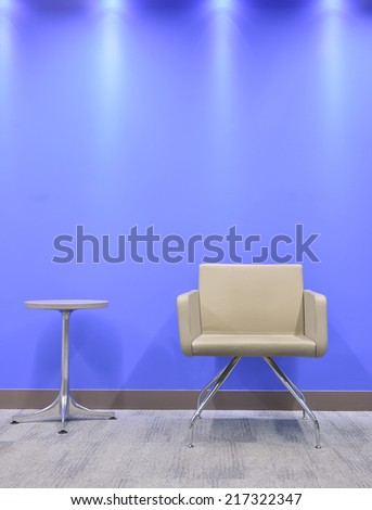 Seat against vibrant wall.