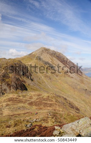 Seat and High Crag from Haystacks in spring, English Lake District