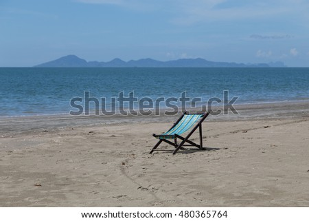 Seat for relax and sunbath on the beach at Koh-Sukorn in Trang, Thailand
