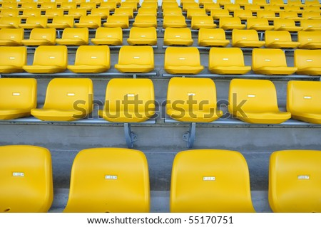 seat in arena - stock photo