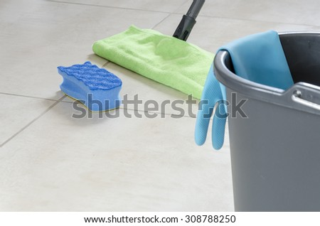 Seating helpful in cleaning the houseSeating helpful in cleaning the house - stock photo