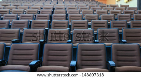 seats in an empty conference room - stock photo