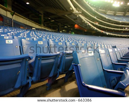 Seats of skydome sport centre