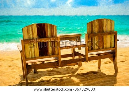Seats on the shore