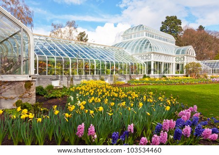 SEATTLE - APRIL 5: Volunteer Park Conservatory in Seattle on April 5, 2012. The city is exploring new funding sources to offset the annual operating budget of $450K.  - stock photo