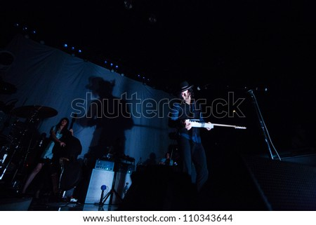 SEATTLE - AUGUST 14:  Rock Star Jack White Performs on stage at WaMu Theater in Seattle, WA on August 14, 2012.