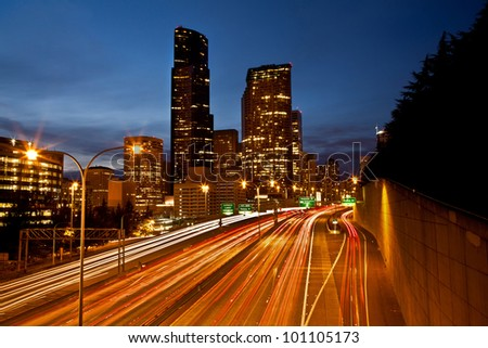 Seattle City at dusk.