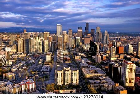 Seattle city skyline - stock photo