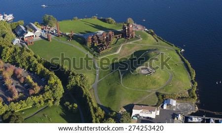 Seattle Gasworks Park Aerial View - stock photo