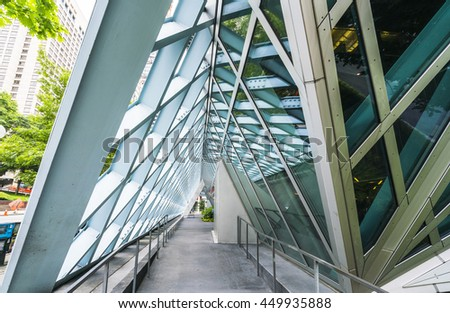 Seattle library,Seattle,Washington,usa.   07/05/16.  for editorial use only. - stock photo