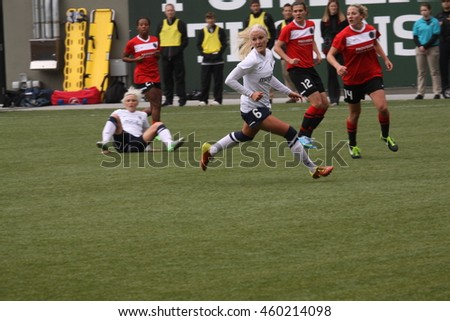 Seattle Reign at Jeld-Wen Field in Portland.OR USA April 21.2013.