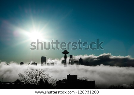 Seattle Rises - stock photo
