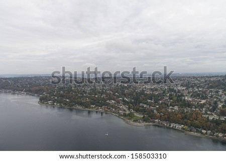 Seattle uptown view from sky