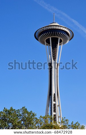 SEATTLE, USA - SEPTEMBER 2010: view of the Space Needle on September 2010 in Seattle - stock photo