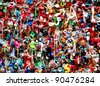 Seattle Washington famous gum wall detail - stock photo