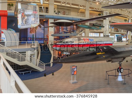 SEATTLE, WASHINGTON STATE, USA - OCTOBER 28, 2015: The Museum of flight is the largest private air and space one in the world.