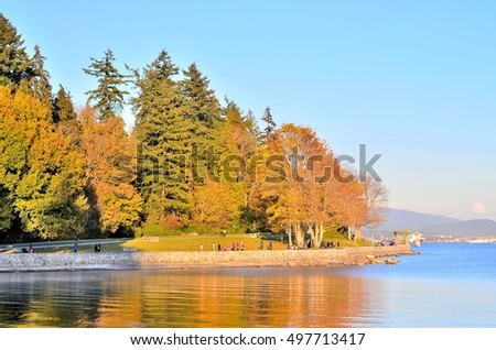 seawall in Stanley park Vancouver BC