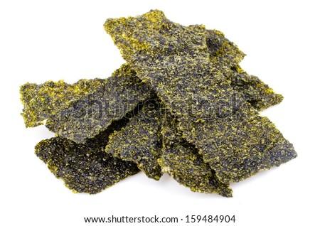 Seaweed on white background - stock photo