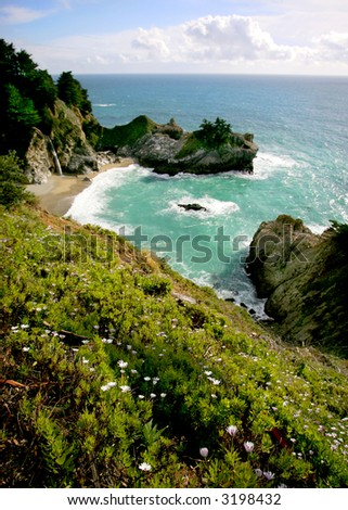 Secluded Cove in Big Sur, California Coast, USA