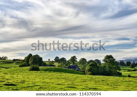 Secluded Farmhouse - stock photo