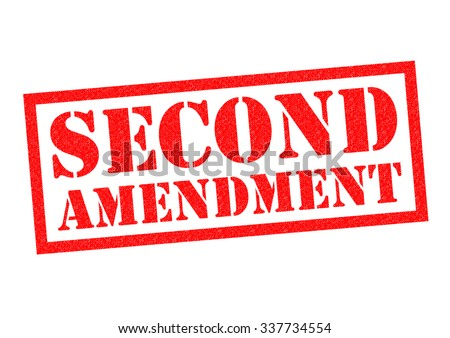 SECOND AMENDMENT red Rubber Stamp over a white background. - stock photo