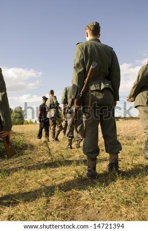 Second World War German soldier - stock photo