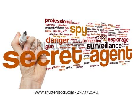 Secret agent concept word cloud background - stock photo