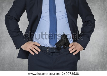 secret agent, police or businessman - stock photo