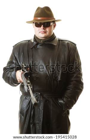 Secret agent with rifle waits extraction - stock photo