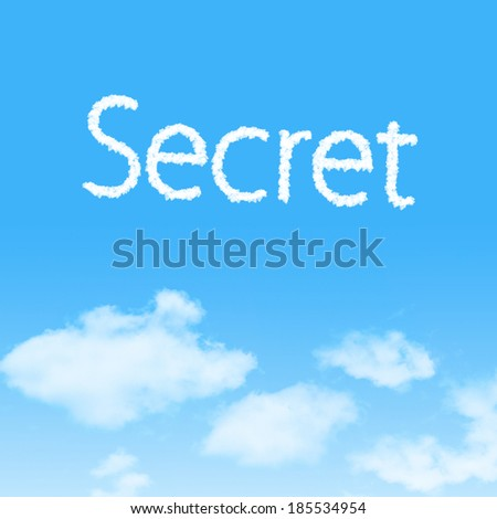 Secret  cloud icon with design on blue sky background - stock photo