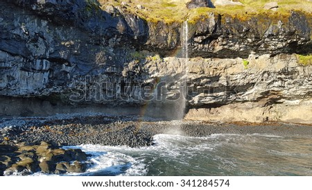 Secret cove in Iceland