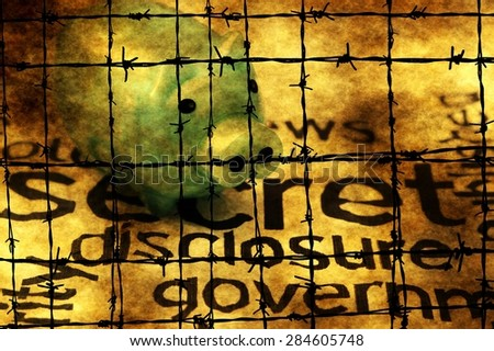 Secret disclosure government - stock photo