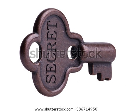 Secret Key - stock photo