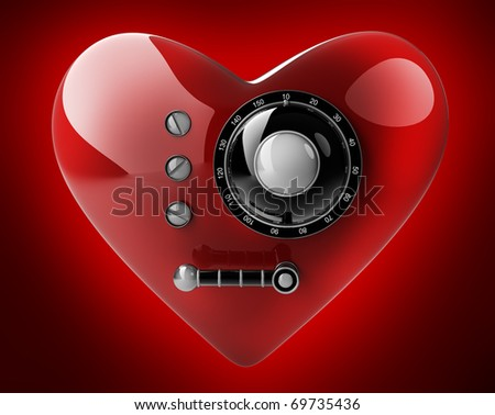 Secret love isolated on red background. 3D render