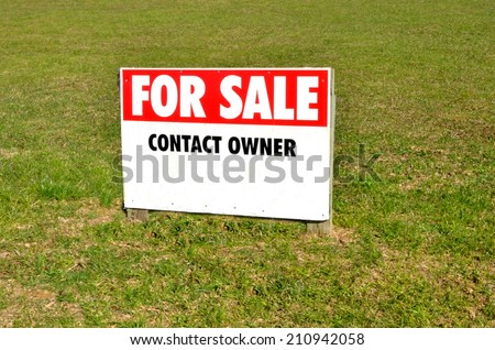 Section for sale sign in a suburb.Concept photo of home, house, housing , real estate, property ,market, buy, sale, section, land. with copy space - stock photo