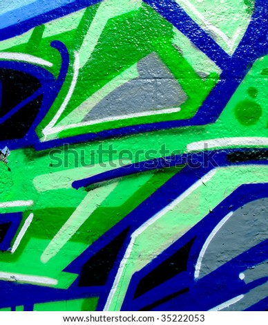 Section of graffiti on an abandoned building