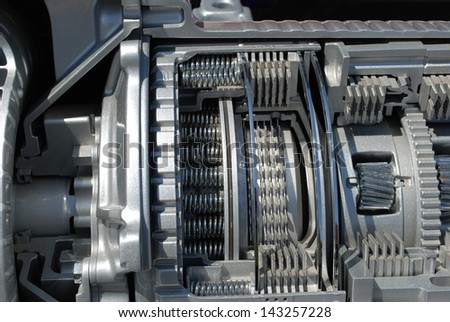 section of the automatic transmission - stock photo