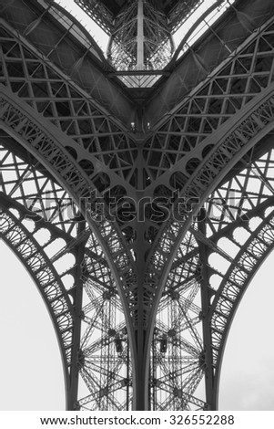 Section of the Eiffel Tower