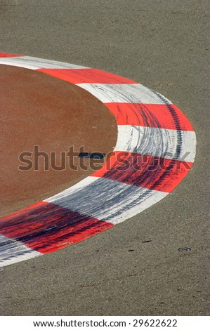 Section of the Famous Monaco F1 Racing Track - stock photo