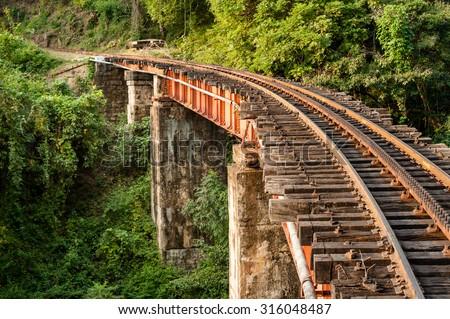 Section Of The Track And A Bridge On Nilgiri Mountain Railway At Mettupalayam