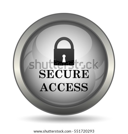 Secure access icon, black website button on white background.