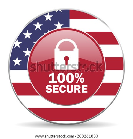 secure american icon original modern design for web and mobile app on white background  - stock photo