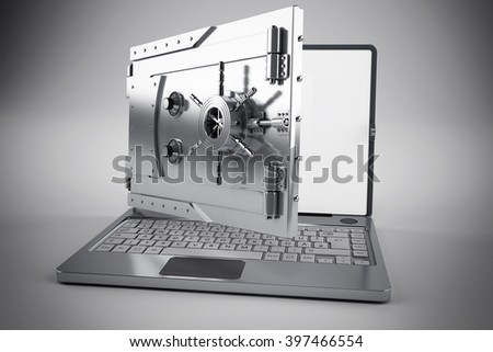 Secure banking - stock photo