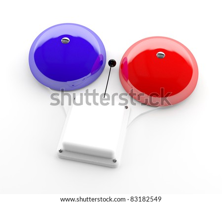 Secure bell isolated on white background - 3d model - stock photo