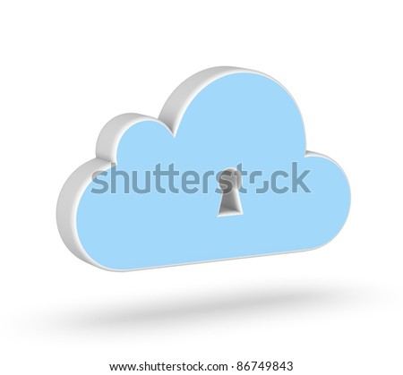 Secure Cloud Computing 3d icon