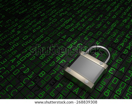 Secure Data - stock photo