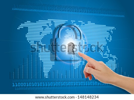 Secure or blocked Internet access concept - stock photo