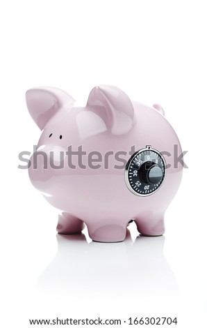 Securing investments, Piggy bank with a dial lock