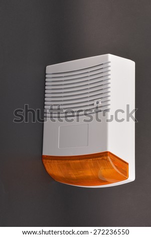 security alarm systems. Industrial or house alarm - stock photo